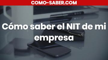 Cómo saber el NIT de mi empresa