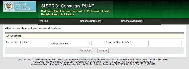 SISPRO Consultas RUAF cesantías