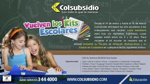 Colsubsidio, certificado escolar