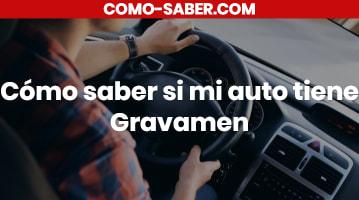 Cómo saber si mi auto tiene Gravamen