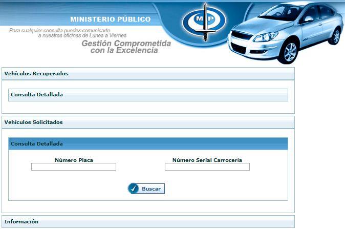 Cómo saber si un carro está solicitado por el CICPC