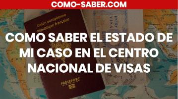 Cómo saber el estado de mi caso en el Centro Nacional de Visas
