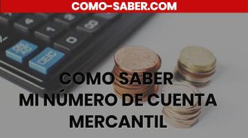 Cómo saber mi número de cuenta Mercantil