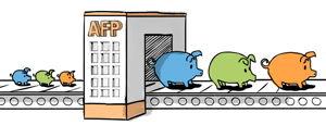 Dinero ahorrado en la AFP