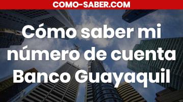 Cómo saber mi número de cuenta Banco Guayaquil