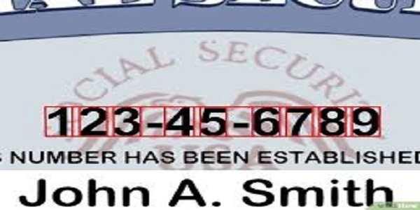 imagen del numero del seguro social