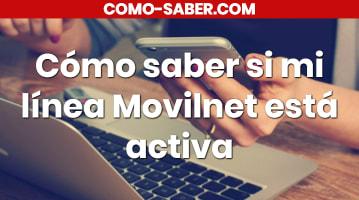 Cómo saber si mi línea Movilnet está activa