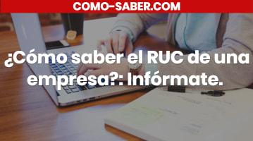 Cómo saber el RUC de una empresa