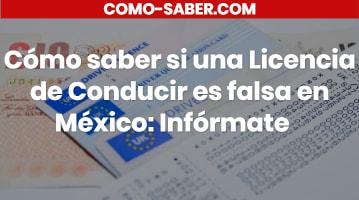 Cómo saber si una Licencia de Conducir es falsa en México