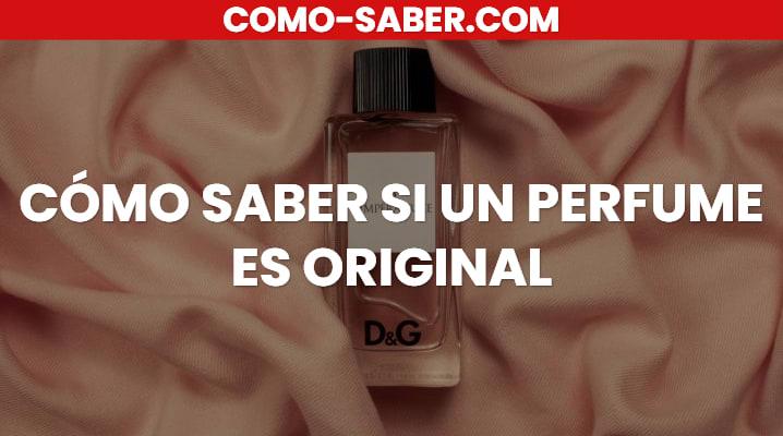 Cómo Saber Si Un Perfume Es Original