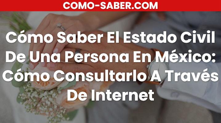 Estado civil de una persona en México