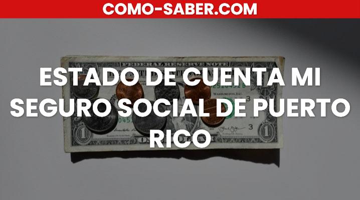 Estado de cuenta mi seguro social de Puerto Rico