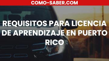 Requisitos para licencia de aprendizaje en Puerto Rico